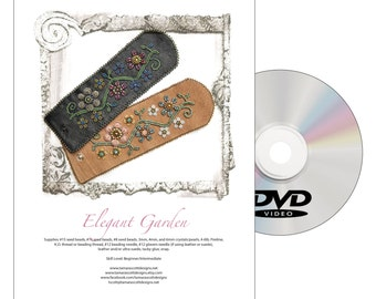 Designs-DVD Bead Pattern-Elegant Garden-Includes Disc and Printed Copy of the Pattern