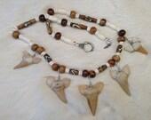 Five Shark Teeth Necklace