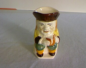 Toby Jug From Keele St Pottery England / Staffordshire Vintage Pottery / Hand Painted Jug