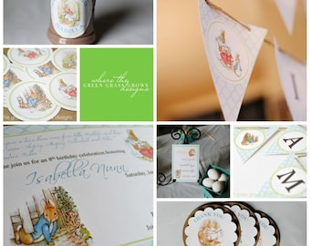 Beatrix Potter Peter Rabbit Party Package
