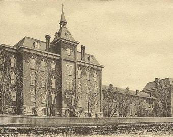 St Elizabeth Academy OLEAN New York UDB vintage postcard 1906 flag cancel