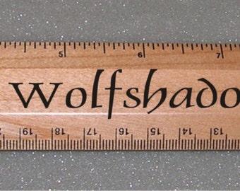 Laser Engraved  Wooden Ruler