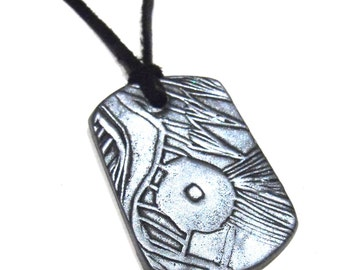 Unique Geometric Necklace - Gunmetal Color -Womens, Rocker, One of a Kind Jewelry, Wearable Art, Gift Box , Ready to Ship