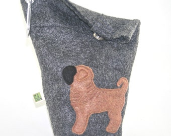Dog Poop Bag Holder Small Leash Bag Shar Pei