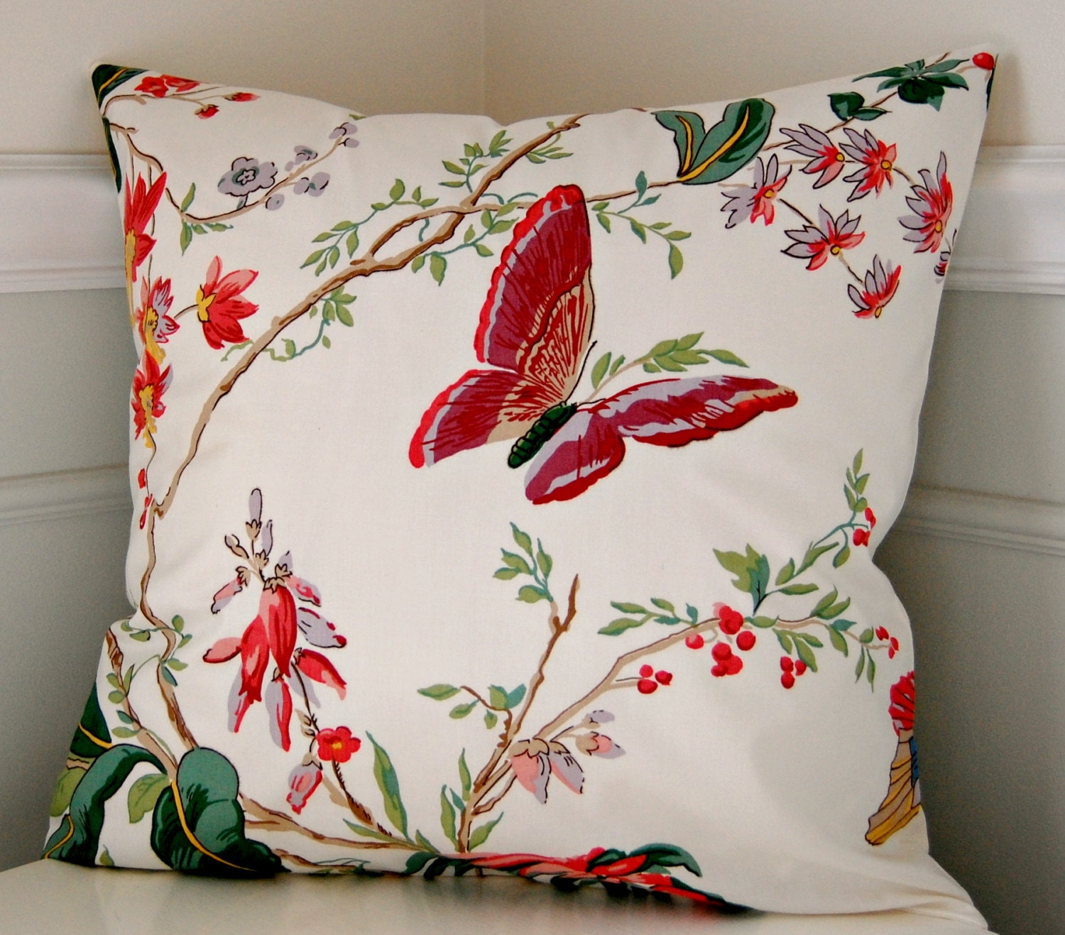 Decorative Floral Pillow Covers : Floral Pillow Cover Floral Decorative Throw Pillow Coral