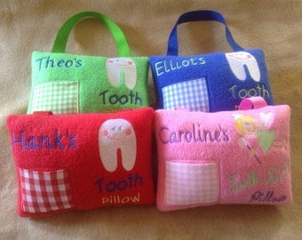 Boy or Girl Personalized Tooth Fairy Pillow