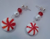 Peppermint Candy Pierced Earrings