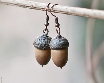 Acorn Earrings - Nature Inspired Rustic Woodland Jewelry, Autumn Jewelry