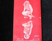 """Original  Nude forties Arcade Card 3 1/4"""" x 5 1/4"""" reflections Pin Up Naked"""