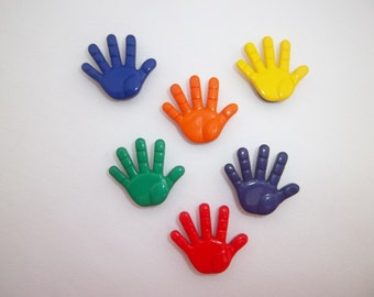 High Five Hand Magnets / Set of Six Hand Magnets
