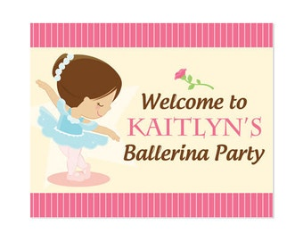 PRINTABLE Ballet Party Welcome Sign