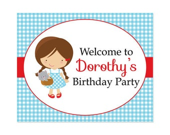 50% Off Sale! - PRINTABLE Dorothy/Wizard of Oz Party Welcome Sign