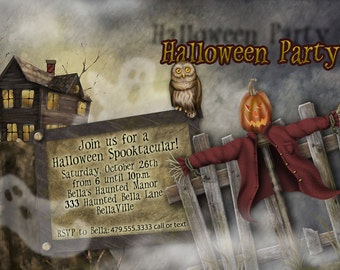 Halloween Invitations, Halloween Party Invitation