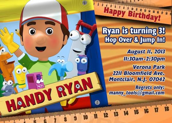 Handy Manny Birthday Invitations Handy Manny birthday – Handy Manny Party Invitations