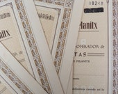 Bank vintage paper from Spain - BODEGA / Wineyards signed and numbered document from 1960s