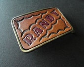 Vintage Buckle Hand Tooled Leather 70s Buckle 70s Accessories Brass Randy Personalized