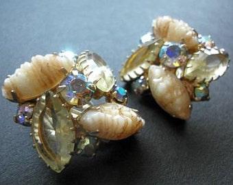 Vintage Aurora Borealis Earrings Sale 50s