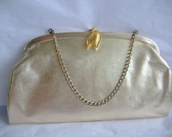 SALE Golden Clutch With Chain