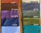 Hand Dyed Organic Cotton Sweatshirt Fleece Fabric by the Yard