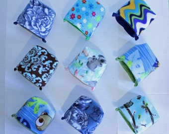 9 Custom Pouches for Sugar Gliders - Pick Your Colors