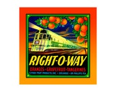 Small Journal - Right-O-Way Citrus - Fruit Crate Art Print Cover