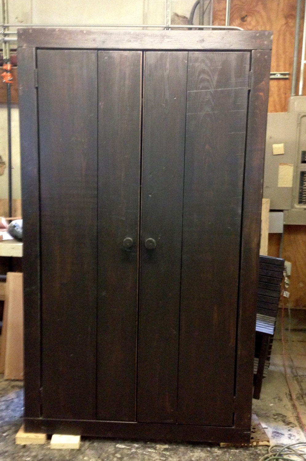 42 wide x 6 foot high cabinet with wooden doors by modernrust for Kitchen cabinets 42 high