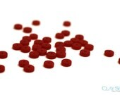 Red Heishi Beads // Sea Glass Button Beads // 36 Pieces of 10mm Blue Beads // Perfect Glass Beads for Necklaces // Wholesale Sea Glass Bead