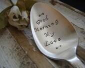 Good Morning My Love - Vintage Coffee Spoon