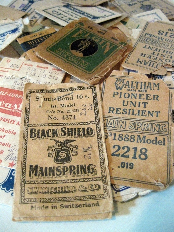 Vintage Watch Mainspring Envelopes