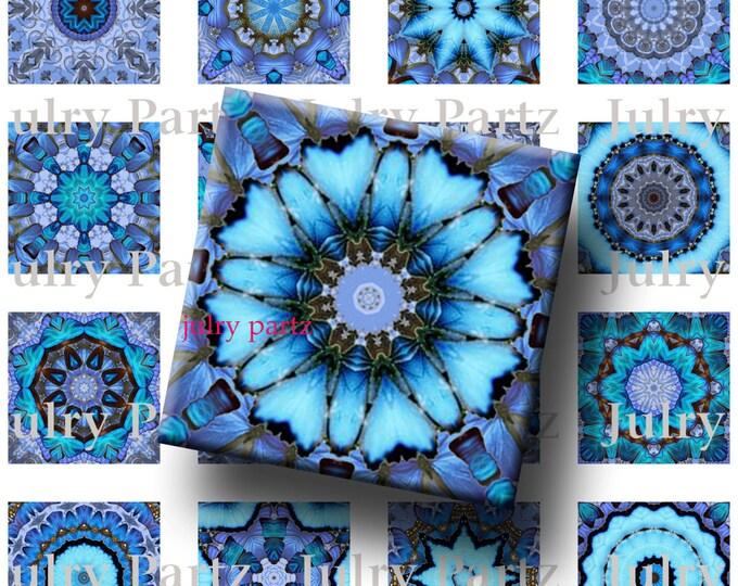 INDIGO WAVES,Third eye Chakra Mandalas 1x1 Square,Printable Digital Image,Healing Mandalas,Magnets,Gift Tags,Scrabble Tiles,Yoga, Meditation