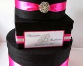 Wedding Gift Box, Bling Card Box, Rhinestone Money Holder  - Custom Made