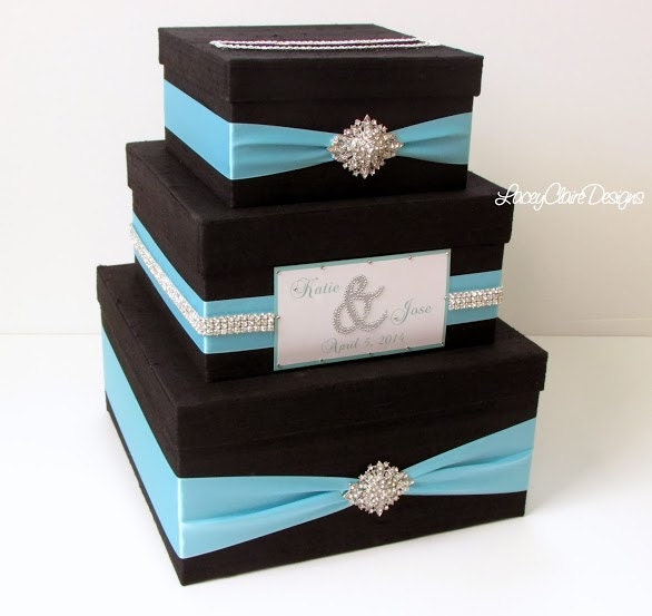 Wedding Gift Box Etsy : Wedding Gift Box Bling Card Box Rhinestone Money Holder