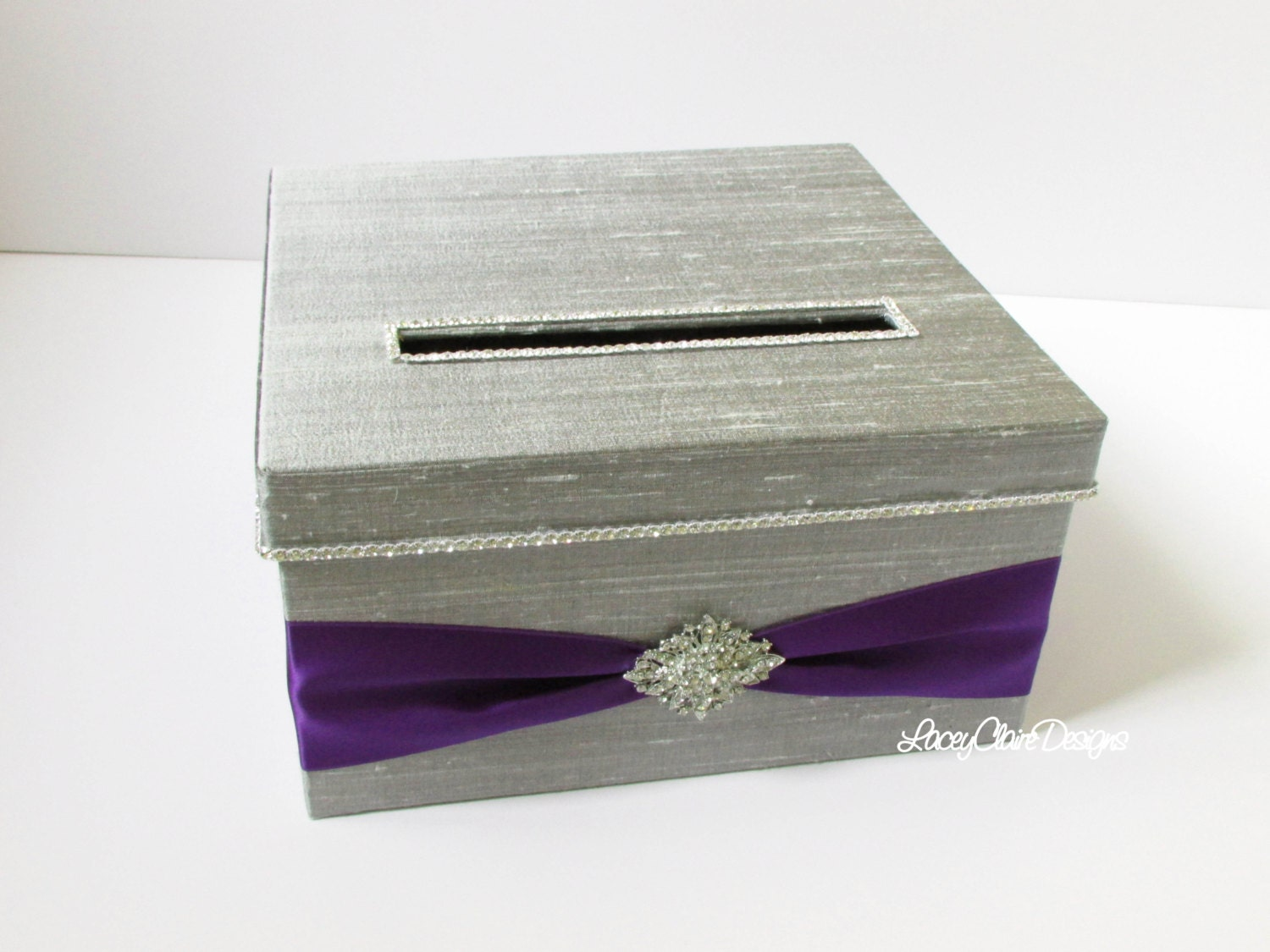 Wedding Gift Card Box Canada : Wedding Card Box Money Holder with by LaceyClaireDesigns on Etsy