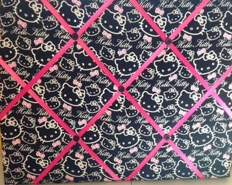 Black Hello Kitty with Hot Pink Photo Memory Board