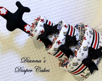 Airplanes Baby Diaper Cake Shower Gift or Centerpiece