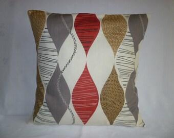 "BIG Red Gray 22x 22"" Pillow Designer Cotton Cushion Cover Pillowcases Shams Slips"