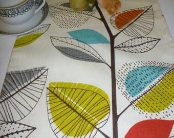 """Orange Table Runner Modern Designer Cotton Over 6ft (2mts long-78"""")"""