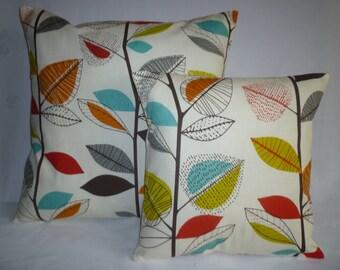 "BIG 22"" Cushion Cover and 16"" Orange Blue Green Designer Cotton  Euro Pillowcases Shams Slips"