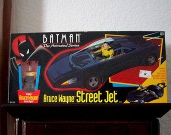 1993 Batman Batmobile, The Animated Series Bruce Wayne Street Jet in Box