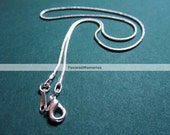 "10 pcs. Silver Plated Snake Chain Necklace 18"" - (1.2mm)"