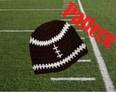 INSTANT DOWNLOAD Football Hat Crochet Pattern Newborn Baby Toddler Child Adult