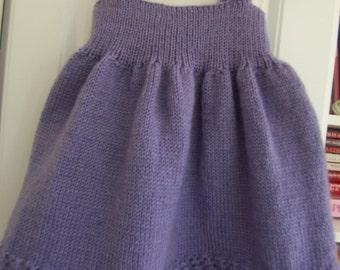 purple baby skirt, skirt hand knit knitted purple skirt