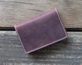 Red Leather Wallet- Oxblood Card Wallet