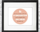 Scripture Art Print - Son & Daughter of God - Galatians 4:7