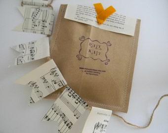 DIY garland/ bunting vintage music sheet kit
