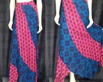 Vintage hippie swirl skirt from the estate of Skeeter Davis 1970s