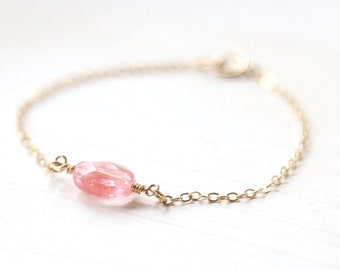 Cherry Blossom Bracelet  - 14K Gold Filled - minimalist jewelry