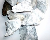 Raw Natural White Howlite Gemstone Lapidary Rough Natural Stone Specimen