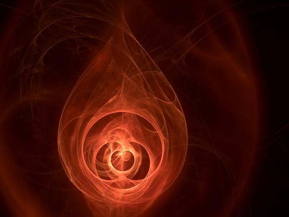 The Fire Remains - Digital Art Fractal Print