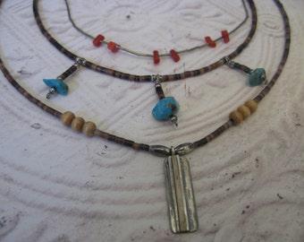 SALE  Three Vintage Southwest Style Necklaces